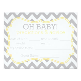 Grey and Yellow Chevron Predictions & Advice Card