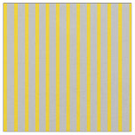 [ Thumbnail: Grey and Yellow Colored Lines Fabric ]