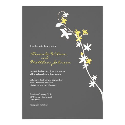 Yellow And Grey Wedding Invitations can inspire you to create best invitation template