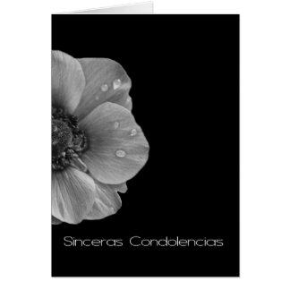 Grey Anemone sympathy card spanish