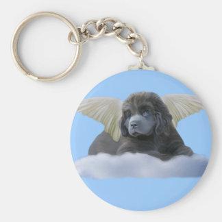 Grey Angel ~ I Believe Basic Round Button Keychain