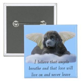 Grey Angel ~ I Believe Button