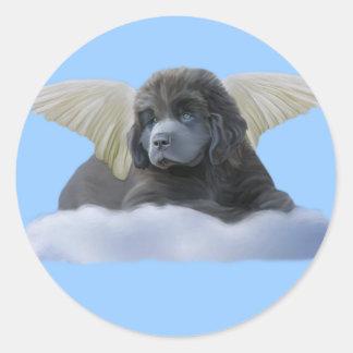 Grey Angel ~ I Believe Classic Round Sticker