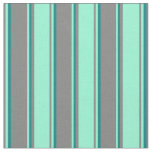 [ Thumbnail: Grey, Aquamarine, and Teal Colored Pattern Fabric ]
