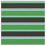 [ Thumbnail: Grey, Aquamarine, Forest Green, Black & Mint Cream Fabric ]