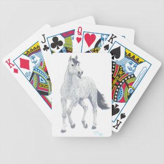 Grey Arabian Horse Playing Cards