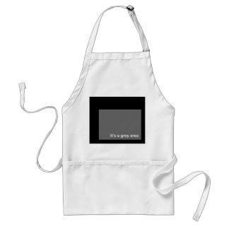 Grey area apron