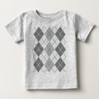 Grey Argyle Baby T-Shirt