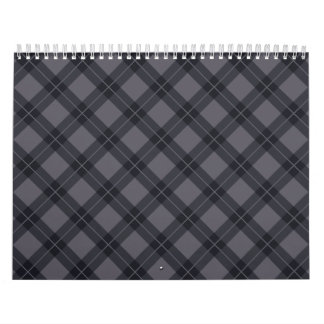 Grey Argyle Wall Calendar