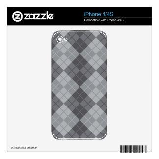 Grey Argyle iPhone 4S Decal