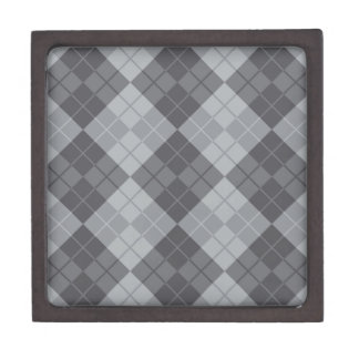Grey Argyle Jewelry Box