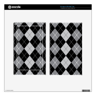 Grey Argyle Kindle Fire Decals