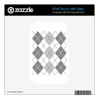 Grey Argyle Skins For iPod Touch 4G