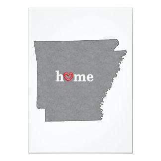 Grey ARKANSAS Home & Open Heart Card
