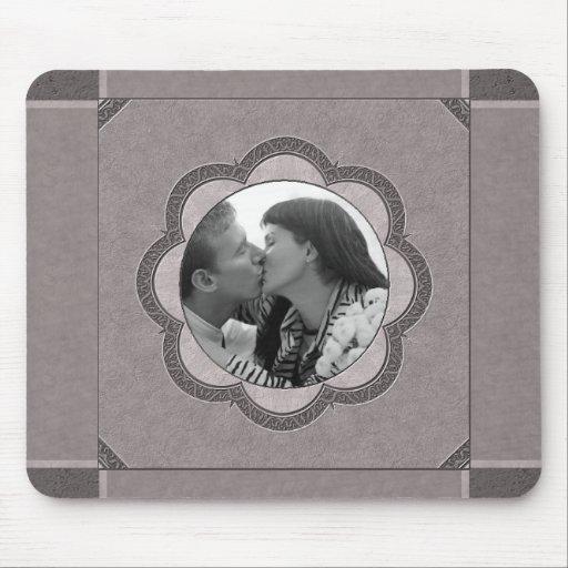 Grey Art Nouveau Wedding Mousepads