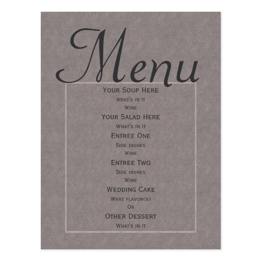 Grey Art Nouveau Wedding Postcard