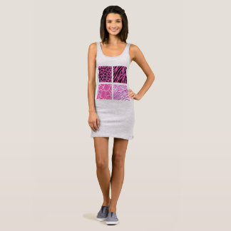 Grey artistic Dress with Africa pattern