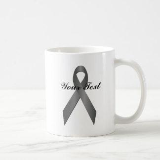 Grey Awareness Ribbon Mugs