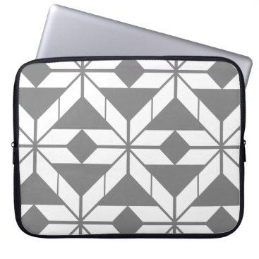 Aztec Themed Grey Aztec Geometric Design Laptop Sleeve
