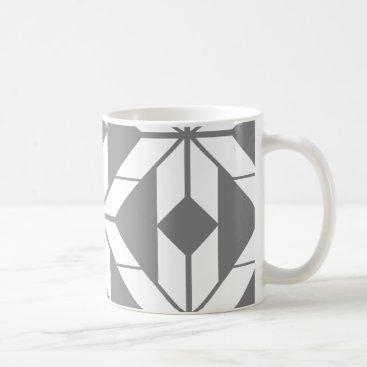 Aztec Themed Grey Aztec Geometric Design Mug