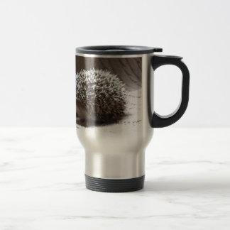 grey baby hedgehog 15 oz stainless steel travel mug