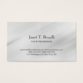 Grey Background Elegant Plain Simple Professional Business Card