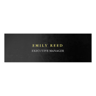 Grey background modern simple professional slim Double-Sided mini business cards (Pack of 20)
