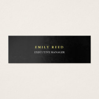 Grey background modern simple professional slim mini business card
