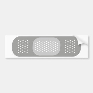 Grey Bandage Bumper Sticker