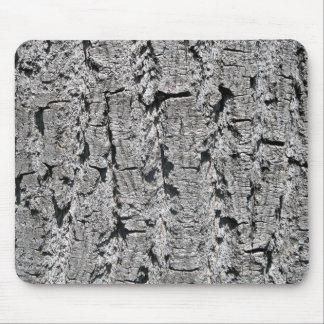 Grey Bark Texture Mouse Pads