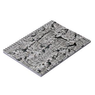 Grey Bark Texture Notebook