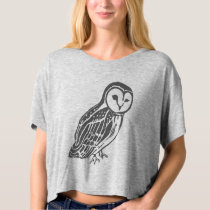 Grey Barn Owl Women's Bella Boxy Crop Top