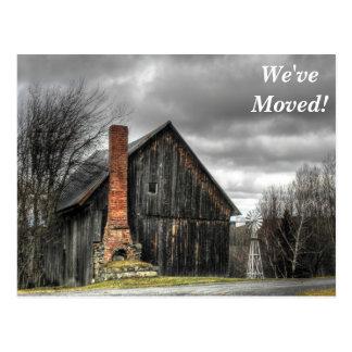 Grey Barn We've Moved New Address Postcard