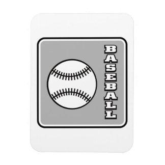 Grey Baseball logo.png Rectangular Photo Magnet