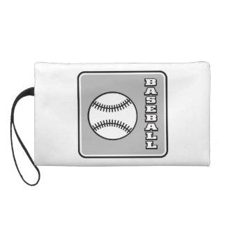 Grey Baseball logo.png Wristlet Purse