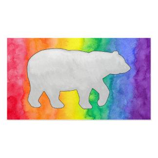 Grey Bear on Rainbow Wash Business Card