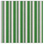 [ Thumbnail: Grey, Beige, and Dark Green Striped Pattern Fabric ]