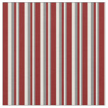 [ Thumbnail: Grey, Beige & Maroon Stripes/Lines Pattern Fabric ]