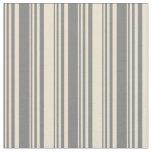 [ Thumbnail: Grey & Beige Pattern Fabric ]