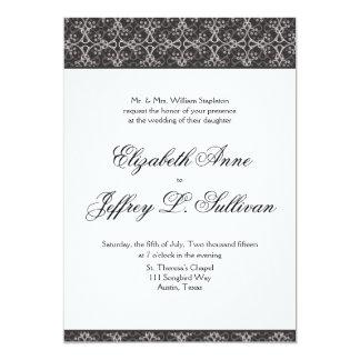 "Grey Berry Cluster Wedding Invitation 5"" X 7"" Invitation Card"