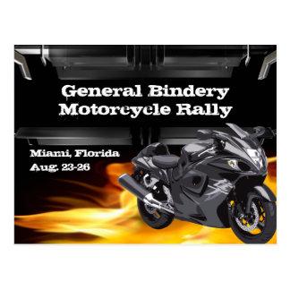 Grey Bike Burner Postcard