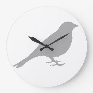 Grey Bird Clock