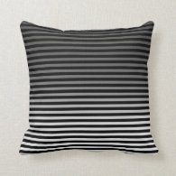 Grey, Black and Add 3rd Color Stripe Throw Pillows