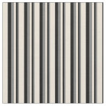 [ Thumbnail: Grey, Black, and Bisque Pattern of Stripes Fabric ]
