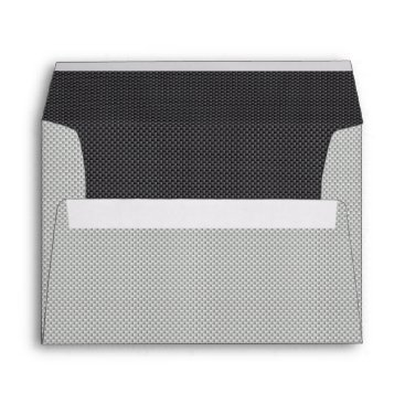Beach Themed Grey Black and White Carbon Fiber Graphite Envelope