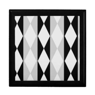 Grey Black and White Keepsake Box