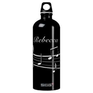 Grey black and white musical notes score SIGG traveler 1.0L water bottle