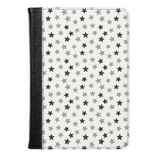 Grey Black and White Stars Kindle Case