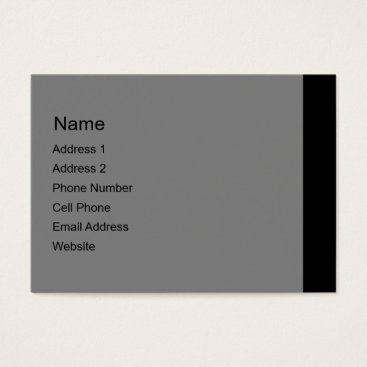 Professional Business grey black business card