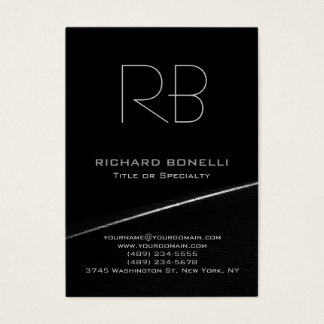 Grey black chubby modern background business card